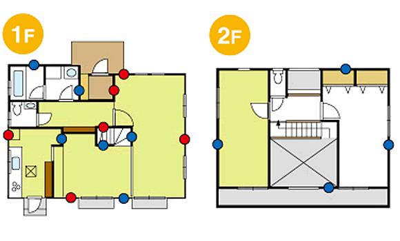 新築 二階建ての見取り図